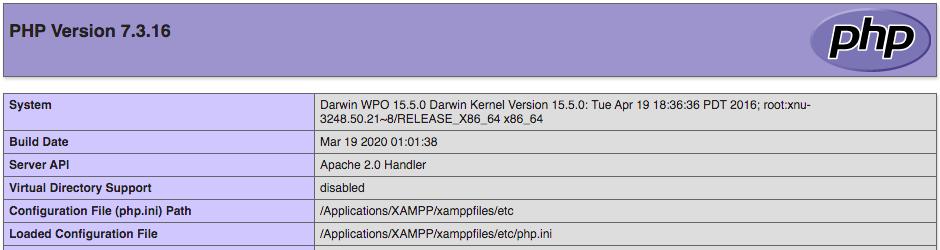 PHP Installation - Version